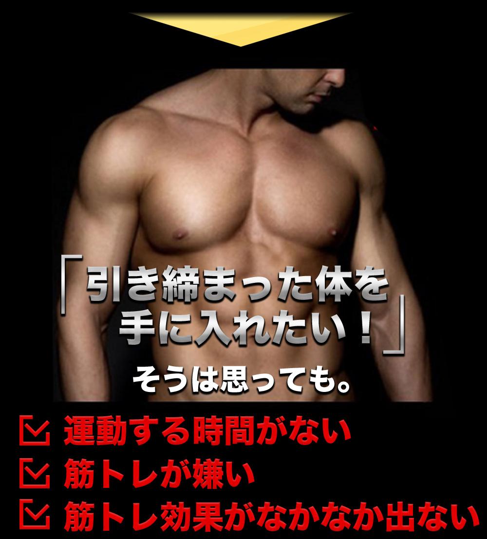 引き締まった体を手に入れたい!そうは思っても。運動する時間がない 筋トレが嫌い 筋トレ効果がなかなか出ない
